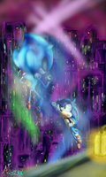 AT: Sonic vs Metal Sonic by Anzoul