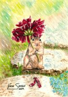 Rainy Day Chipmunk by Artsy50
