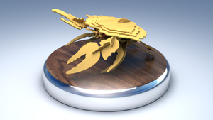 Wooden Crab 3D Puzzle by DeargRuadher