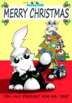 Zoid's Funny cats christmas card by KingZoidLord