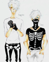 Undertale- Badass Skeleton Bros by karinchan97