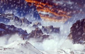 Mountain Landscape by StrykeGraphic