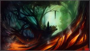 Guardian of the Fire Trees by kovah