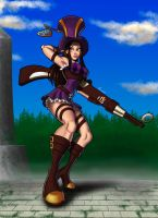 Caitlyn, the Sheriff of Piltover by Exael-X
