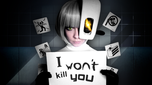 GLaDOS cosplay full wallpaper by Tenori-Tiger