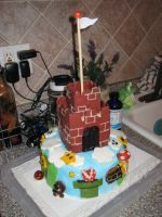 Super Mario Bros cake by Keep-It-Sweet