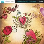 FREE Valentine vector pack by 123creative