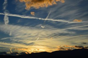 Autumn sky in Massif Central in France by A1Z2E3R