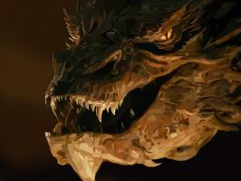 Smaug by loladrawsthings