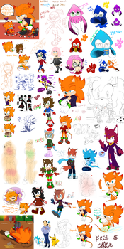 Tumblr Sketches I forgot to Submit by SonicForTheWin2
