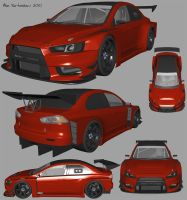 Evo X JGTC WIP by AfroAfroguy