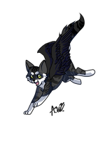 Pose in leap mode The Raven by MidnightsBloom