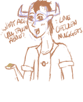 Tavros Loves Chicken Nuggets by XxTresCymbalsxX