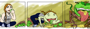 Apple Eating Rampage by greenest-alien