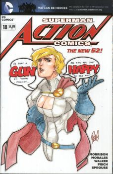 Blanks: Powergirl by redgvicente