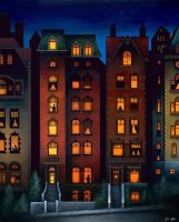 Brownstones by justindmiller