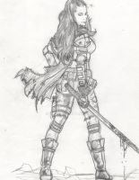 Post apocalyptic girl layout -2 by IMPOSI
