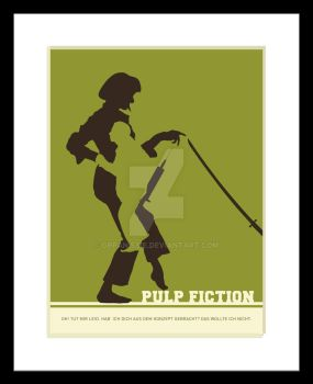 Pulp Fiction Illustrated Movie Poster by GPPanissie