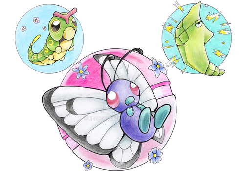 Butterfree family by RisuChuu