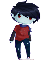 Marshall Lee -Redraw- by LunaticLily13