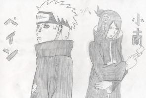 Pein and Konan by xboxdude7281