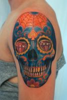 calavera tattoo by graynd