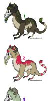 Skull Dragon Fur Mix Adoptables 1. by MichelsAdoptions