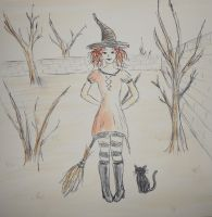 Little Witch - Sketch by Felina-Luciana