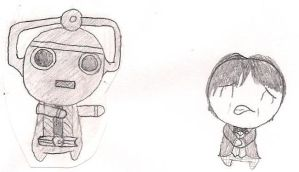 2nd and a Cyberman by theSwordofRainbows