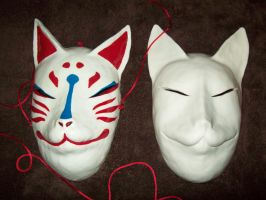 Kitsune Mask Comparison by Ultimaknight333