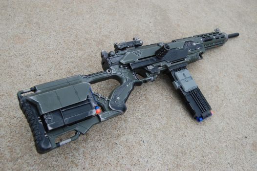 Nerf LongStrike CS-6 with accessories by DaStuph