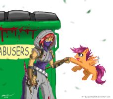 Protect Scootaloo by punkbot08