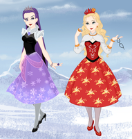 Frozenmaker Ever After High: Raven and Apple by monkeypizzasonic