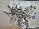 Whiteboard Demon Hunter by firstmac