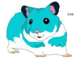 Blue Happy Hamster by SofiaHaase