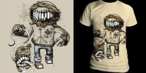 MouthFace Tee by L-MakesArt