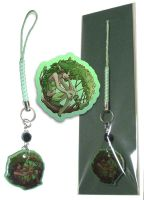 Phone Charm - Green Dryad by neondragon