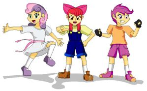 Human Cutie Mark Crusaders by Koopa-Master