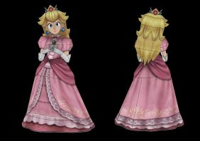 Princess Peach Papercraft Unfold by Sabi996