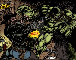 Jonah Hex VS Swamp Thing by BIG-D-ARTiZ