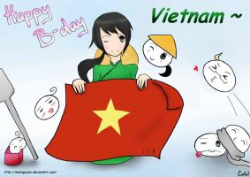 Vietnam's birthday on SAI by EnbiNguyen