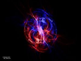 Abstract Ying-Yang (Fire and Ice) by Radman1919