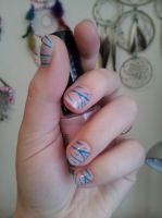 Nude with blue tiger stripes by lovely-girl-92