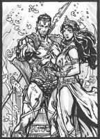 Namor and Queen by caananwhite