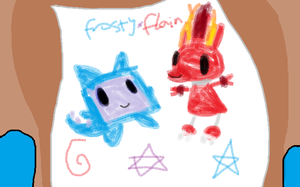 Frosty x Flain Drawing by Uxie126