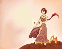 Flame Maiden - Aestas by Alipes
