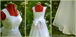 White Viennese Waltz Dress by Velven