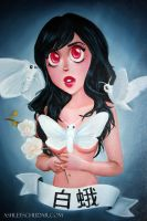 White Moth by CupcakeAshley