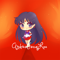 Sailor Mars Chibi Sticker by AndreaJacqLee