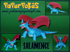 Salamence Papercraft by Skeleman